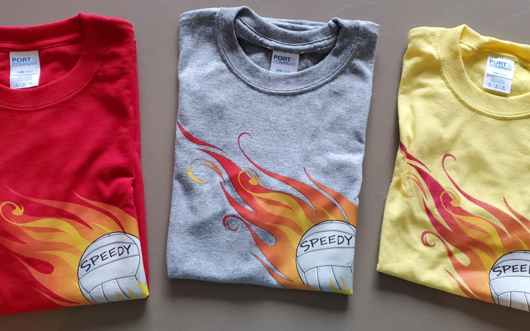 Speedy Tshirts now on sale!